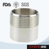 Virola de rosca masculina sanitaria de la abrazadera del acero inoxidable (JN-FL1004)
