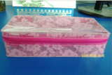 PVC Beauty Bag von Clear PVC Material mit Full Lace Print