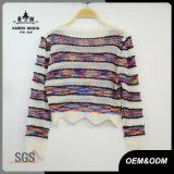 Frauen Boho Wellen-Form-Getreide Striped farbiges T-Shirt