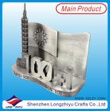 Portatarjetas conocido del nombre comercial del portatarjetas del metal de Singapur 3D