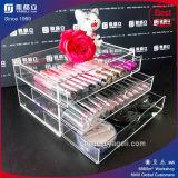 Tiroirs acryliques fous d'organisateur de renivellement de vente avec la rangée 3