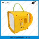 Lanterna solar de Rechargeble com rádio de FM e telefone de pilha que cobra PS-L065
