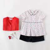 Girlsのための100%年の綿Short Sleeve Children Clothing