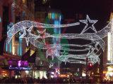 Decoratieve Lichten van de Straat van het LEIDENE Motief van Kerstmis de Dwars met Goedgekeurd Ce RoHS SAA