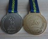Medaglie europee del rame dell'argento dell'oro del randello di gioco del calcio dei bambini dell'Ungheria