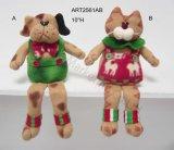 Decorazione fornita di gambe del gatto e del cane del panno morbido del tasto, 2 Asst