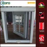 グリルデザインのUPVC/PVCのハリケーンの影響の開き窓Windows