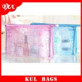(KL015) Les dames imperméabilisent le sac cosmétique de renivellement de PVC de poche de tirette