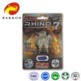Rinoceronte 7 píldoras sexuales del realce del platino para el aumentador de presión masculino de la libido