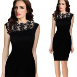 Women sexy Crochet Bodycon Cocktail Mother di Bride Dress