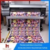 Papel de transferencia por sublimación bajo peso 70gsm para la industria textil