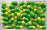 Gute Qualitätssicherer Typ Puder-Paket der Grün-Gelb-leeres Kapsel-Größen-00