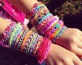 Hotsale Custom Designed Colorful Rainbow Bracelet mit Cheaper Price 64
