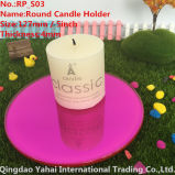 4mm Round Rose Glass Mirror Candle Holder