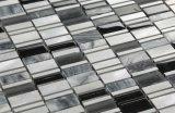 熱い販売のガラスブレンドの汚れの鋼鉄任意単連続写真のタイル