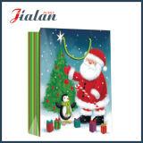 Glatter lamellierter Kunstdruckpapier-Vater-Weihnachtseinkaufen-Geschenk-Papierbeutel