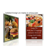 Frame a schiocco LED Light Box con Advertizing Display Board