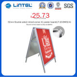 32mm Round Corner Banner Stand Aluminum un Frame Sign (LT-10-SR-32-A)
