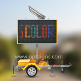 En12966 Vms van de Zonne Aangedreven Mobiele LEIDENE Kleur van Vertoningen Tekens