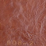 Cuero artificial del sofá del PVC del grano de la cera agrietada al por mayor del petróleo (908#)