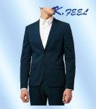 Vestito convenzionale di affari della nuova del blu marino di 2016 modi di misura mutanda scarna del cappotto