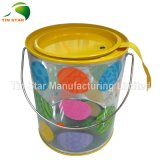 Christmas Promotion를 위한 플라스틱 Transparent Bucket Tin Box