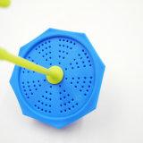 Tè di categoria alimentare bello accessorio Infuser del silicone di figura 100% dell'ombrello della cucina