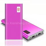 携帯電話のための極めて薄い金属の箱力バンク12000mAh LCD二重USB外部電池の携帯用充電器Powerbank