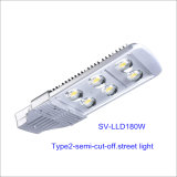 180W IP66 DEL Outdoor Street Light avec 5-Year-Warranty (Semi-coupure)