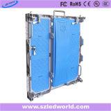Farbenreiche Miete LED-Innenbildschirmanzeige (druckgießender Aluminiumschrank)