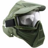 La máscara de la lente de los anteojos de la máscara de Airsoft de la cara llena sin el cuello protege