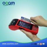 Terminal tenu dans la main de paiement de position d'écran tactile avec le lecteur de cartes d'imprimante