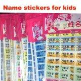 De waterdichte Etiketten van de Sticker van de Naam van het Beeldverhaal van pvc