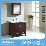 Unità classica compatta della stanza da bagno di legno solido con il Governo dello specchio (BV177W)