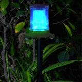 Lampe colorée solaire de pelouse sans électricité