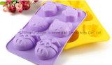 Outil laiteux Sc23 de traitement au four de moulage de gâteau de silicones de forme de porc de Kitty de souris