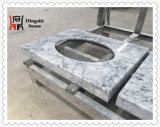 Bancada de mármore cinzenta da parte superior da vaidade