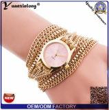 Bijou en cuir de luxe de qualité de courroie du fournisseur Yxl-775 chinois le long observe le bracelet à chaînes de femmes de mode de dames