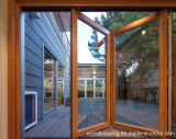 Disegno di vetro di alluminio esterno del portello di piegatura
