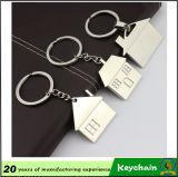 Metallhaus-geformter Zustand förderndes Keychain, Immobilienmakler-Andenken Keychain