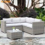 新しいデザイン屋外か庭を使用して商業角の藤のソファー