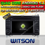 Carro DVD GPS do Android 5.1 de Witson para Mercedes-Benz uma classe (W169) (2005-2011) com sustentação do Internet DVR da ROM WiFi 3G do chipset 1080P 16g (A5716)