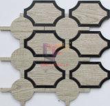 복잡한 패턴 물 분출 절단 모자이크