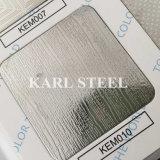 201 hoja grabada color de la plata del acero inoxidable Kem010