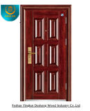 Puerta de acero de la seguridad de la entrada rojo marrón de la alta calidad