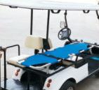 ゴルフおかしな小型電気裁判所の救急車
