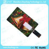 주문 풀 컬러 인쇄 신용 카드 8GB USB 드라이브 (ZYF1825)