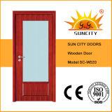 Bereiftes Glas-Panel-hölzerne Türen (SC-W020) löschen