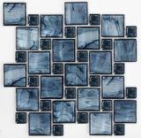 Het blauwe Mozaïek van het Glas van het Kristal van de Mengeling