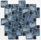 Mosaico azul del vidrio cristalino de la mezcla